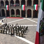 The Presidential Palace in Mexico City preparing for the ceremony